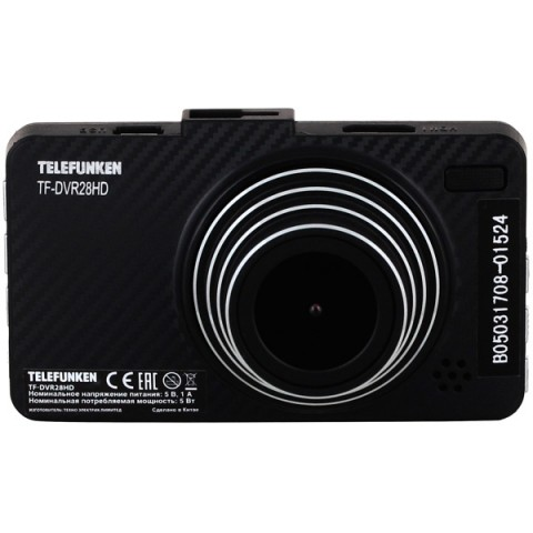 Купить видеорегистратор Telefunken TF-DVR28HD Black (10013230) в Москве, в Спб и в России