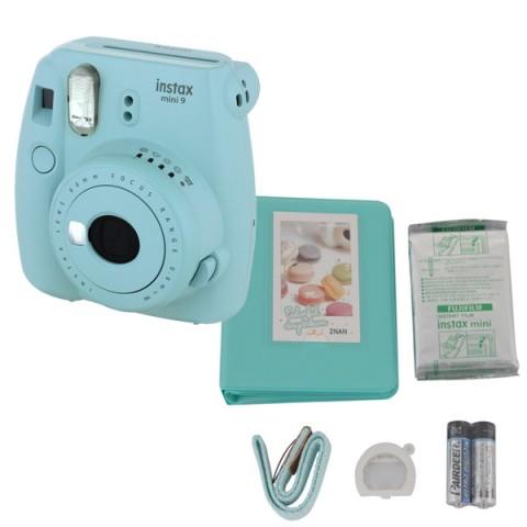 Фотография товара фотоаппарат моментальной печати Fujifilm INSTAX MINI 9 ICE BLUE SET (10013470)