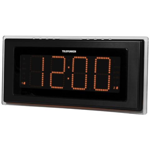Фотография товара радио-часы Telefunken TF-1541 Black/Orange (30021217)