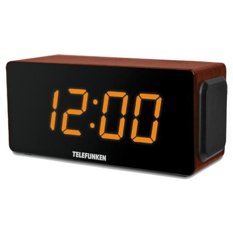Фотография товара радио-часы Telefunken TF-1566U Brown Wood/Orange (30021676)