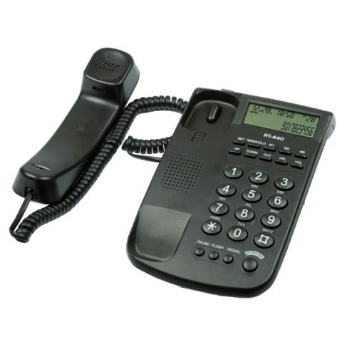Фотография товара телефон проводной Ritmix RT-440 Black (30025009)
