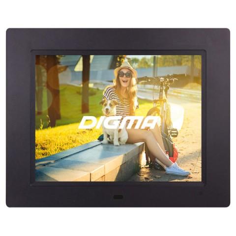 Фотография товара цифровая фоторамка Digma PF-833 Black (30025500)