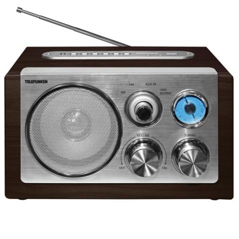 Фотография товара радиоприемник Telefunken TF-1638U Dark Wood (30025670)