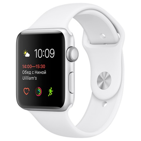 Фотография товара смарт-часы Apple Watch S1 Sport 38mm Silver Al/White (MNNG2RU/A) (30026315)