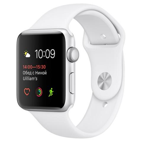 Фотография товара смарт-часы Apple Watch S1 Sport 42mm Silver Al/White (MNNL2RU/A) (30026318)