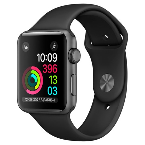 Фотография товара смарт-часы Apple Watch S1 Sport 38mm Sp.Grey Al/Black (MP022RU/A) (30026321)
