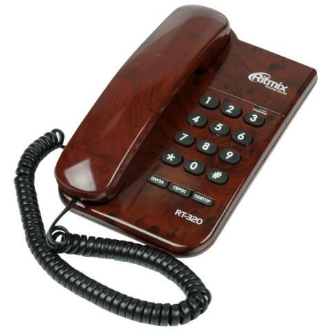 Фотография товара телефон проводной Ritmix RT-320 Coffee marble (30027408)
