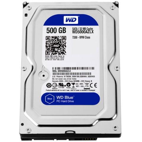 Фотография товара жесткий диск WD 500GB Blue (WD5000AZLX) (30031740D)