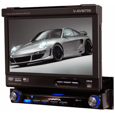 Фотография товара автомобильная магнитола с DVD + монитор Varta V-AVM700 (387313)