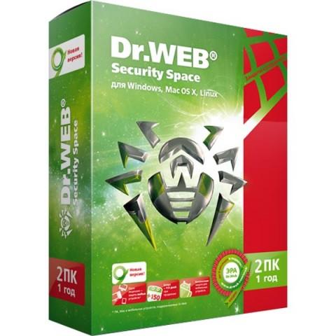 Фотография товара антивирус Dr.Web Security Space 2ПК на 1 год (40059739)