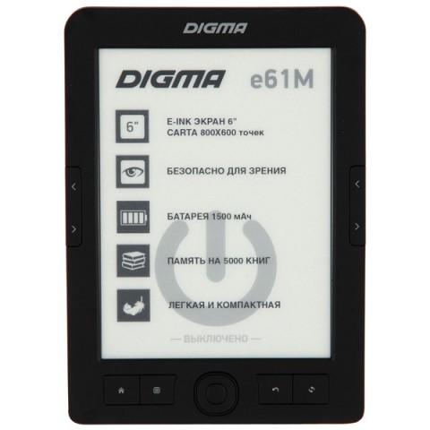 Фотография товара электронная Книга Digma E61M черный (40066023)