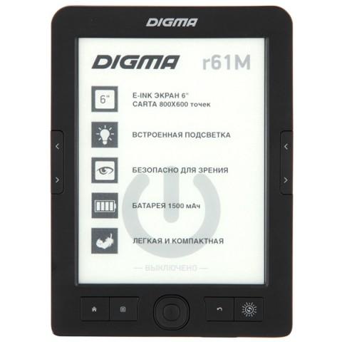 Фотография товара электронная Книга Digma R61M черный (40066025)