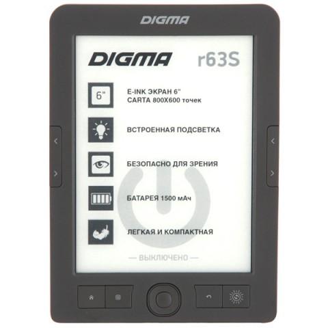Фотография товара электронная Книга Digma R63S темно-серый (40066027)