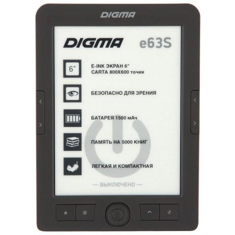 Фотография товара электронная Книга Digma E63S темно-серый (40066028)