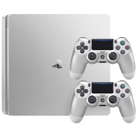 Фотография товара игровая консоль PlayStation 4 500Gb серебристая с серебр.геймпадом DualShock 4 (40066091)