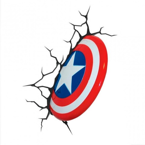 Фотография товара фигурка 3DLightFX Светильник 3D Captain America Shield (40067522)