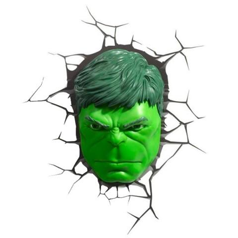 Фотография товара фигурка 3DLightFX Светильник 3D Hulk Face (40067526)