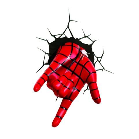 Фотография товара фигурка 3DLightFX Светильник 3D Spiderman Hand (40067530)