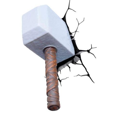 Фотография товара фигурка 3DLightFX Светильник 3D Thor Hammer (40067532)