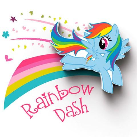 Фотография товара фигурка 3DLightFX Светильник 3D MLP Mini Rainbow Dash (40067533)