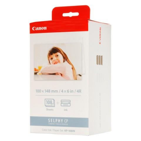Фотография товара набор для компактного принтера Canon Картридж + фотобумага KP-108IN (50009588)