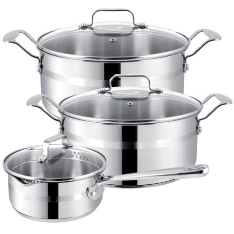 Фотография товара набор посуды (Jamie Oliver) Tefal E874S574 3шт.: 1,4/2,8/4,7л (50040615)