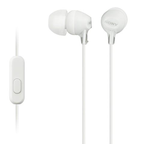 Фотография товара наушники внутриканальные Sony MDR-EX15AP White (50041113)