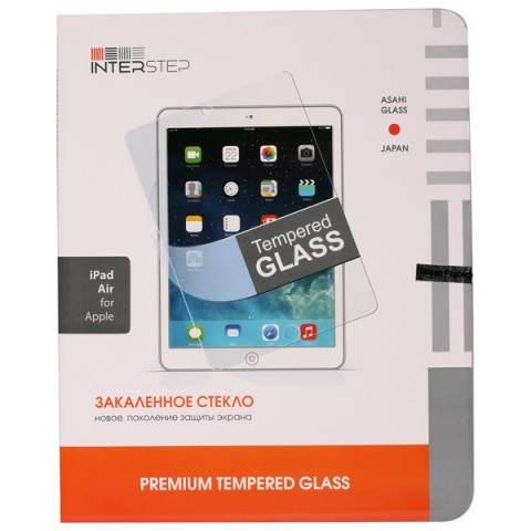 Фотография товара защитное стекло для iPad InterStep для iPad Air (IS-TG-IPADN5AIR-000B201) (50041623)