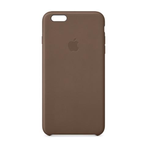 Фотография товара чехол для iPhone Apple iPhone 6 Plus Leather Case Olive Brown MGQR2 (50041712)