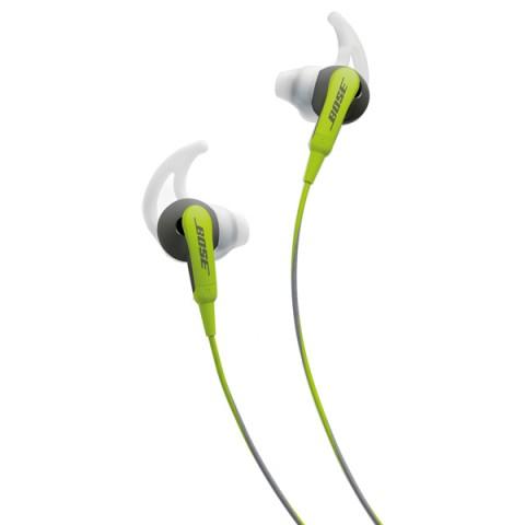 Фотография товара спортивные наушники Bose SoundSport Green/Grey to Apple (50042443)