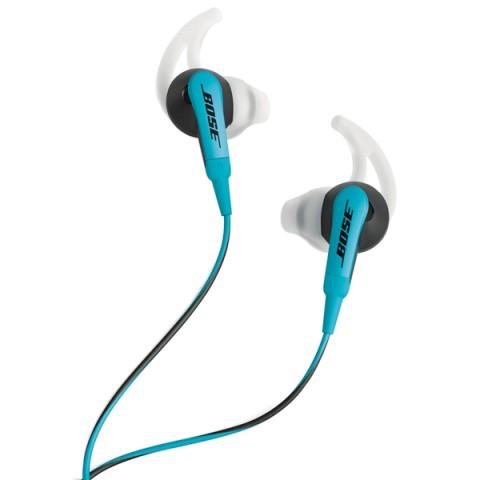Фотография товара спортивные наушники Bose SoundSport Black/Blue to Apple (50042444)