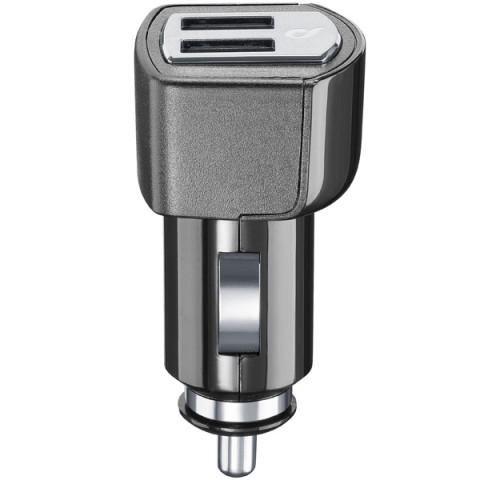 Фотография товара автомобильное зарядное устройство Cellular Line 2 USB 4.2A (CBRUSBDUAL4AK ) (50043328)