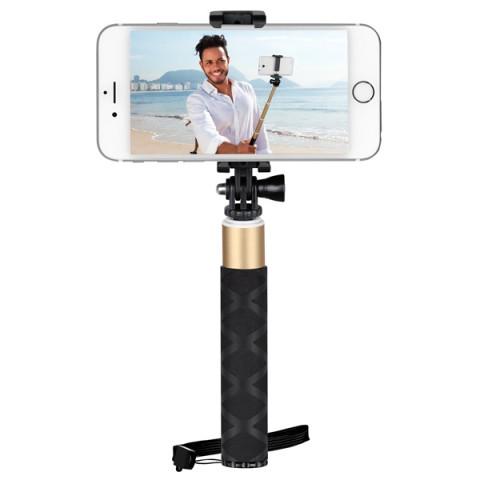 Фотография товара монопод для смартфона InterStep MP-125 Champagne 0.75m (IS-HD-MPSP125YL-075B201) (50043425)