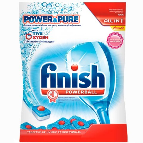 Фотография товара моющее средство для посудомоечной машины Finish Powerball All in 1 26 таблеток (50043680)