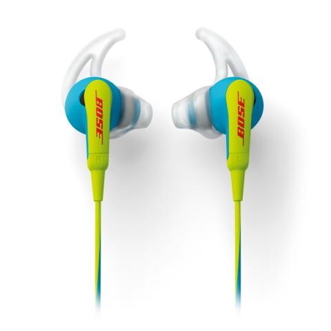 Фотография товара спортивные наушники Bose SoundSport In-Ear Neon Blue to Apple (50044151)