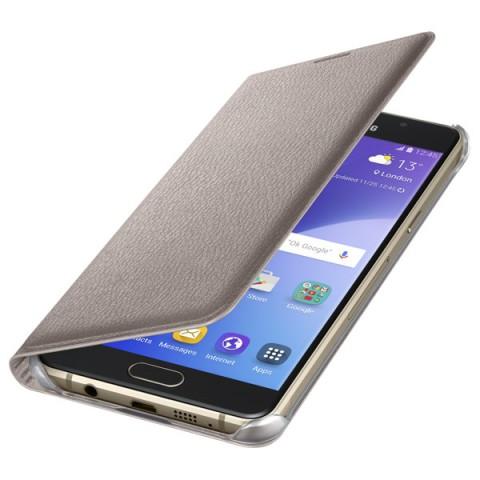 Фотография товара чехол для сотового телефона Samsung Flip Wallet A5 2016 Gold (EF-WA510PFEGRU) (50044364)