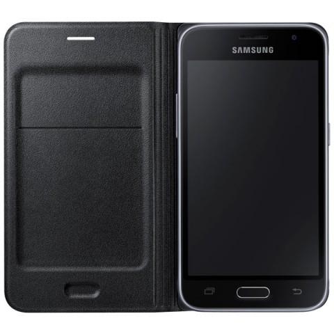 Фотография товара чехол для сотового телефона Samsung Flip Wallet J1 Black (EF-WJ120PBEGRU) (50044680)
