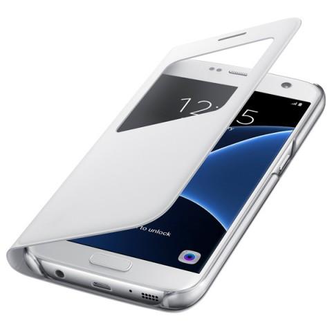 Фотография товара чехол для сотового телефона Samsung S View Cover S7 White (EF-CG930PWEGRU) (50044842)