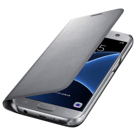 Фотография товара чехол для сотового телефона Samsung LED View Cover S7 Silver (EF-NG930PSEGRU) (50044956)