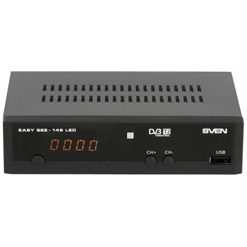 Фотография товара приемник телевизионный DVB-T2 Sven EASY SEE-149 LED (50045091)