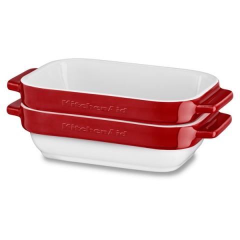 Фотография товара форма для выпекания (керамика) KitchenAid набор KBLR02MBER 2шт. по 0,45л (50045430)