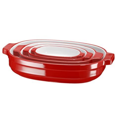 Фотография товара форма для выпекания (керамика) KitchenAid набор KBLR04NSER 4шт. (50045432)