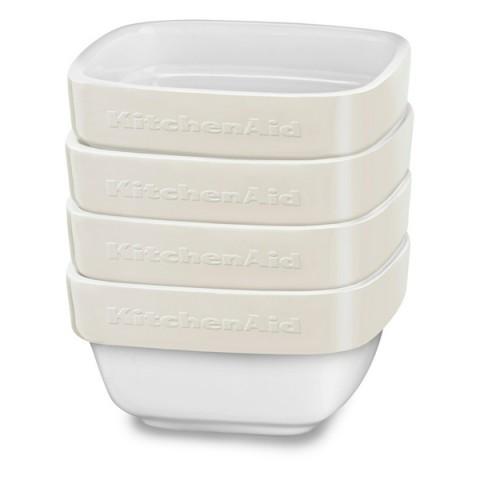 Фотография товара форма для выпекания (керамика) KitchenAid набор KBLR04RMAC 4шт. по 0,22л (50045433)