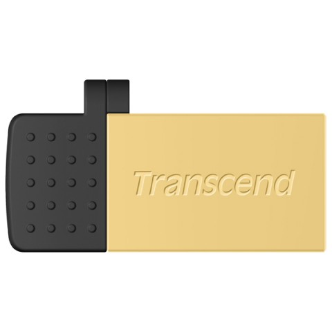 Фотография товара флеш-диск OTG Transcend JetFlash 380 8GB золотистый/черный (TS8GJF380G) (50047206)