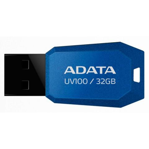 Фотография товара флеш-диск ADATA UV100 Blue 32GB (AUV100-32G-RBL) (50047418)