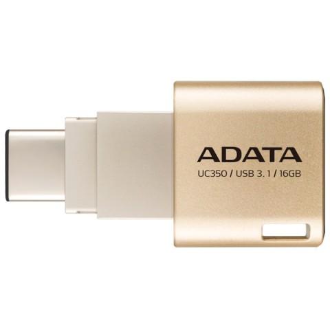 Фотография товара флеш-диск Type C ADATA Choice UC350 Gold 16GB (AUC350-16G-CGD) (50047451)
