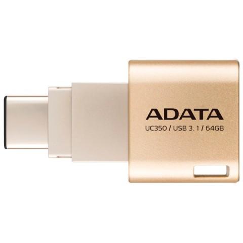 Фотография товара флеш-диск Type C ADATA Choice UC350 Gold 64GB (AUC350-64G-CGD) (50047453)