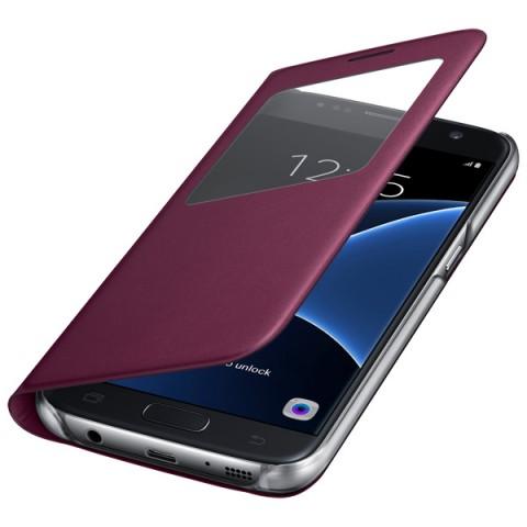 Фотография товара чехол для сотового телефона Samsung S View Cover S7 Vinous (EF-CG930PXEGRU) (50048226)