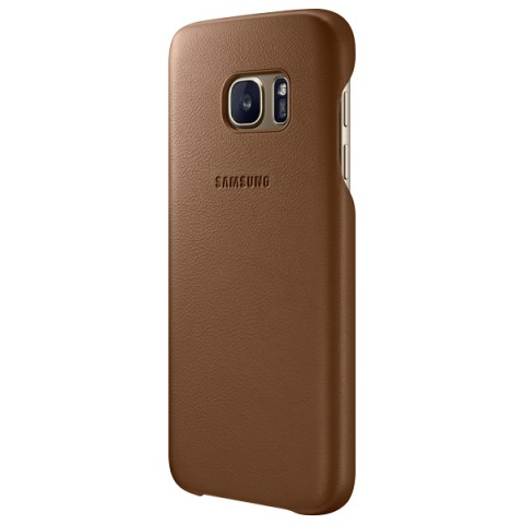 Фотография товара чехол для сотового телефона Samsung Leather Cover S7 Brown (EF-VG930LDEGRU) (50048312)