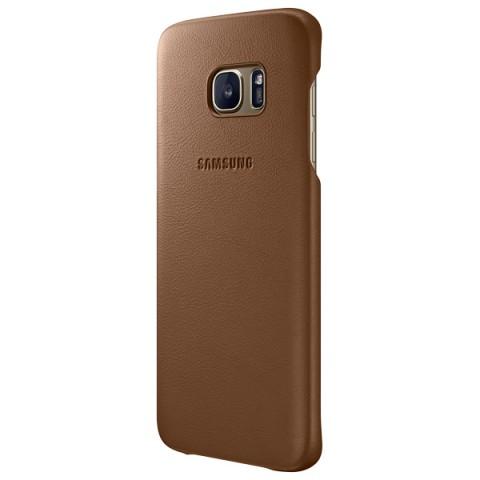Фотография товара чехол для сотового телефона Samsung Leather Cover S7 Edge Brown (EF-VG935LDEGRU) (50048314)